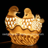 Ceramic Manual Night Light, Mandarin Duck Lamp