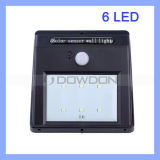 6 SMD LED PIR Motion Sensor Solar Lamp Energy Saving Street/Garden Wall Light