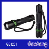 Super Bright LED Rechargeable Zoom Aluminium Flashlight with Hammer
