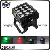 Rechargeable Battery Power 12PCS 15W 6in1 LEDs LED PAR