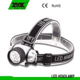 Silver Color Plastic Material 7 LED Headlamp (8748)