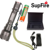 Supfire Rechargeable CREE LED Tactical Flashlight
