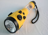 Crank Siren LED Flashlight