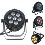 7X15W RGBWA 5 In1 Outdoor LED Flat PAR Can Light