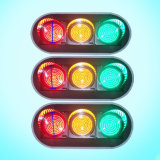 Vintage 3-Sets China Factory Price Full Screen LED Traffic Light