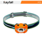 Rayfall Plastic Light-Weight LED Headlamp with 1 White and 2 Red LED for Night Vision (Model HP3A)