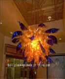 Yellow and Blue Decoration Glass Chandelier for Hotel