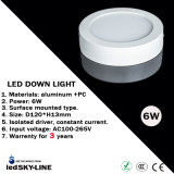 3 Years Warrenty 6W Surface Mounted LED Down Light with External Driver