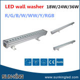 Warm White/Yellow/Green 220V LED Wall Wash Outdoor Light, 24W LED Linear Wall Washer 1m