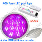 18W LED PAR56 with RF3600 RGB Controller, IP68 Waterproof, DC12V