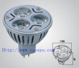 Yaye Best Sell 3PCS *1W LED Spotlight, 12V LED MR16 Light with CE, RoHS (YAYE-MR16-DG3WB1)