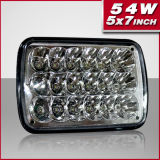 New Design High Power 5X7 Inch 54W Rectangle LED Sealed Beam Headlamp (PD7SL-54W)
