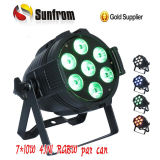 DMX RGBW 4in1 7*10W Indoor LED PAR Can Light