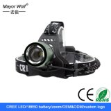 AA Battery Rechargeable Police Security LED Headlamp Headlight