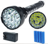 15PCS LED CREE U2 T6 18000lm 1500m18650 Rechargeable LED Flashlight