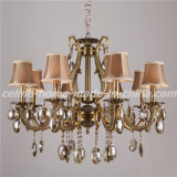 Luxury Design Crystal Iron Chandelier with Fabric Shade (SL2116-8)
