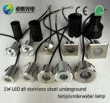 Stainless Steel Outdoor Plaza Area 1W Park Underground Lamp 1W LED Lights Buried LED Underwater Lights 42mm