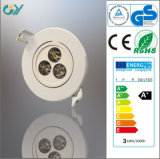Plastic 6000k 3W CE&RoHS LED Down Lighting Ceiling Light