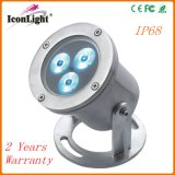 Wholesale 3PCS IP68 LED Underwater Lamp Waterproof Outdoor Light (ICON-C007A)