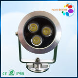 Aluminum RGB Outdoor Underwater LED Lights 3W/LED Landscape Light (HX-HUW68-3W)
