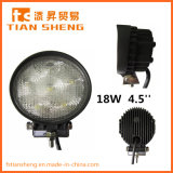 4.5'' 18W High Intensity Bridgelux Auto Parts LED Work Light with CE RoHS Emark ISO