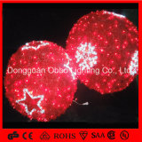 Beautiful Garden Decorative LED Christmas 3D Motif Balls Lights