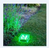 Green Outdoor LED Solar Ice Rock Crystal Glass Landscape Path Lights