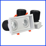 CE RoHS 24W Square Grille Simplism Square COB Double LED Down Light (BSCL-12)