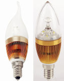 3W High Power LED Tailed Candle Bulb Light