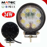 High Performance 10-30V DC LED Offroad Driving Light, 24W LED Truck Work Lights
