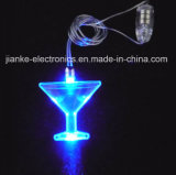 Advertising LED Flashing Cup Necklace with Logo Print (2001)