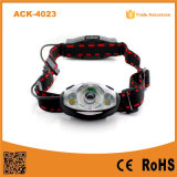 Ack-4023 18650 Battery Rechargeable 1 Watt LED Light +2 XPE LED Headlamp for Outdoor Use