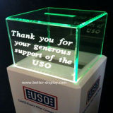 Custom Acrylic LED Crystal Light Box with Engraved Words (BTR-Y1038)