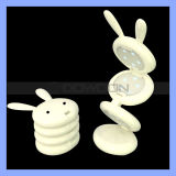 Pink White Foldable Rabbit Night Light and Rabbit Children Night LED Table Lamp