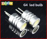 1lot 10PCS/Lot 1.5W 0.5W/LED 3 SMD LED Light Beads 12V Pin Plug Bulb G4 LED Lamp Beads Crystal Lamp G4a (^GG06)