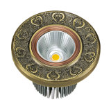 Brass LED Spotlight with Antique Finish