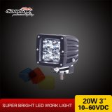 3'' 20W Square Colorful Cover CREE LED Work Light Sm6203b