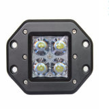 20W Square Recessed LED Truckor Working Lights, 10~30V DC IP67 Creechips 20W LED Work Light for Truck