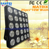 25X10W LED Wash Effect Matrix Light for Stage (SF-S01B)