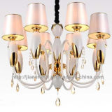 Competitive Iron Chandelier Lighting with Fabric Shade