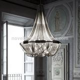Designer Lamps Popular High Quality Aluminium Chain Ceiling Pendant Chandelier with 3 Color Changeable