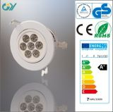 Plastic 3000k 7W LED Ceiling Light with CE RoHS
