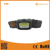 T05 COB LED Headlight Portable Outdoor Emergency Camping COB LED 3xaaa Powerful Headlamp