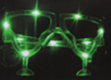New Design LED Party Sunglasses with Cup Shap