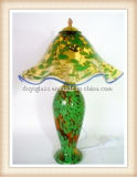 Green Glass Table Lamp for Home Decoration