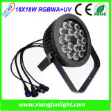 18PCS 18W Outdoor LED Wash PAR Light Rgbwauv