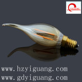 Amber Flame Bent Tip LED Light Bulb C35