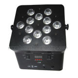 12X15W 5 in 1 Battery Powered Wireless DMX LED Flat PAR