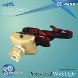 Plastic Small LED Head Light with Golden Color (HL-LA0607)