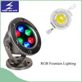 6W Colorful Underwater LED Fountain Lighting